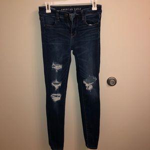 Skinny Ripped AE Jeans Sz 4